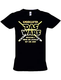 KINDERGARTEN DAS WARS Episode 2 - T-Shirt mit individuellem Druck NAME + KINDERGARTEN zur Einschulung Schulanfang Gr. 116 128 140 cm