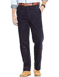 Mens Luxury Cotton High Rise Corduroy Adjustable Pleated Trouser Pants