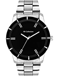 HB COLLECT CLASSIC BLACK DIAL CLASSIC STAINLESS STEEL WATCH FOR MEN