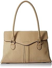 Aquatan Women's You & Me Music Large Leather Shoulder Bag Crème AT-L-15