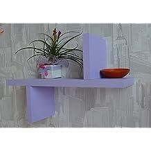 ITALY VE.CA-Repisa de Madera de Diseño Composición Eegance 3 colorazioni Azul, Naranja y Morado