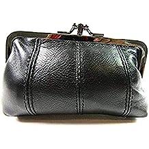 01dbfabc181b8 Damen super weich Echtleder Clipverschluss Portemonnaie Zwillings Tasche