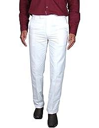 Men's White Slim Fit Trouser