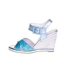 ROBERTO BOTELLA - <p>Sandalia cuña forrada</p> - Color Azul - Combi1 - Talla 35