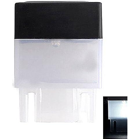White Light 1-LED quadrato LED solare Deck Fence Post Mount Luce - Giardino Post Mount