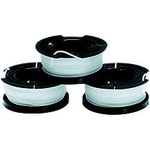 Black and Decker A6485-XJ - Pack de 3 bobinas de hilo para cortabordes (10 m de largo y 1,5 mm de diámetro)
