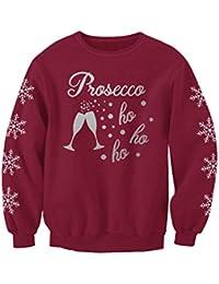 Prosecco HO HO HO Adults Novelty Prosecco Gift Christmas Jumper