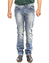 Spykar Mens Light Blue Slim Fit Low Rise Jeans (Rico)