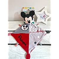 Doudou personnalisé garçon Mickey Disney prénom bébé