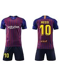 a3580bdc384bf Daoseng Camiseta Jersey Futbol Barcelona 2018-2019 Traje de Hombres Adultos  Uniforme de Futbol Manga