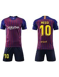 Daoseng Camiseta Jersey Futbol Barcelona 2018-2019 Traje de niños Manga  Corta + Pantalones Cortos 846d461167487