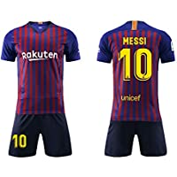 Daoseng Camiseta Jersey Futbol Barcelona 2018-2019 Traje de Hombres Adultos  Uniforme de Futbol Manga 25b6216c6366a