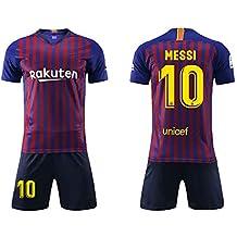 c8a041eec3d92 Daoseng Camiseta Jersey Futbol Barcelona 2018-2019 Traje de niños Manga  Corta + Pantalones Cortos