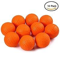 Crestgolf - Palline da allenamento in gommapiuma, 12 pezzi per confezione, orange