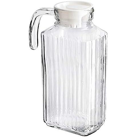 2x 1,8L jarra de cristal puerta de la nevera jarra con tapa