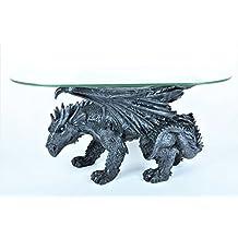 Drachen Tisch Couchtisch Inkl Glasplatte Massiv 20 Kg Sonderpreis Drachentisch Dragon