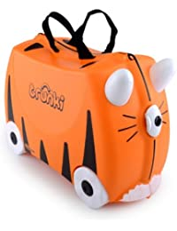 Trunki Ride-On Suitcase Bagage Enfant, 46 cm, 18 L, Orange et Noir