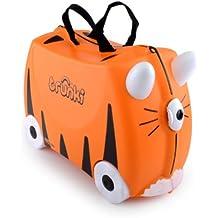 Trunki Ride-On Suitcase Bagage Enfant, 46 cm, 18 L, Orange et Noir