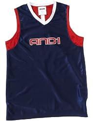 AND1 Driver - Camiseta de manga larga para hombre azul navy/ varsity red/ white Talla:16