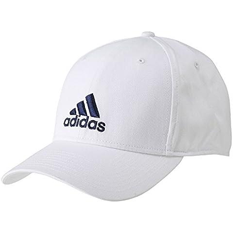 adidas Perf Cap Co - Gorra unisex, color blanco / azul marino, talla OSFY