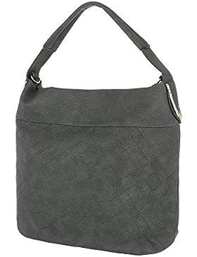 iTal-dEsiGn Damentasche Mittelgroße Schultertasche Handtasche Used Optik Kunstleder TA-F2006