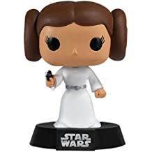 Funko PDF00004449 - Star Wars, Pop: Princesa Leia cabezón, 10 cm (FUNVPOP2319) - Star Wars - Figura - Head Princesa Leia (10 cm)