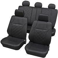 Kunstleder Sitzbezüge Sitzbezug Schonbezüge für VW New Beetle Schwarz Set
