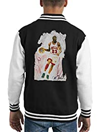 0fd7150c98e6 Sidney Maurer Original Portrait of Basketball Star Michael Jordan Kid s  Varsity Jacket