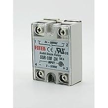 DZXGJ® fotek 24v-380v 250v 100 ssr-100da módulo de relé de estado sólido 3-32V dc a ac