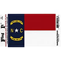North Carolina Flag Decal For Auto, Truck