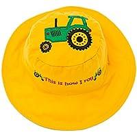 Flapjacks 2in1reversibile per bambini estate hats-tractor/dog-medium