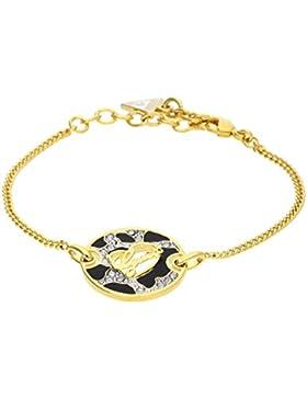 Guess Damen-Armband ADVENTURE Edelstahl teilvergoldet Kristall weiß 20 cm-UBB61062-S