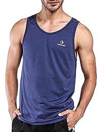 Ogeenier Hombre Deporte Camiseta sin Mangas de Secado Rápido para Running  Fitness Ejercicio 7854fae4fab33