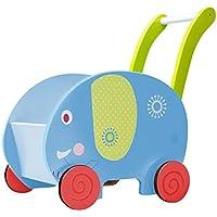 Labebe Baby Hölzernes Schaukelpferd Blauer Dinosaurier, Jungen & Mädchen Kleinkind SchaukelnReiten-auf Spielzeug für 1-3 Jahre alt, Gefüllter Tier Sitz, ASTM / CE / CE Sicherheit zertifiziert, kreatives Geburtstagsgeschenk