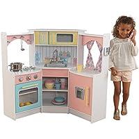 KidKraft 53368 Cucina Giocattolo Ad Angolo in Legno per Bambini Deluxe con Telefonino Incluso - Pastello