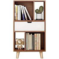 Bookshelf piso sala de estar dormitorio almacenamiento de oficina estantería de estantería librería revista revista mostrar soporte,Brown