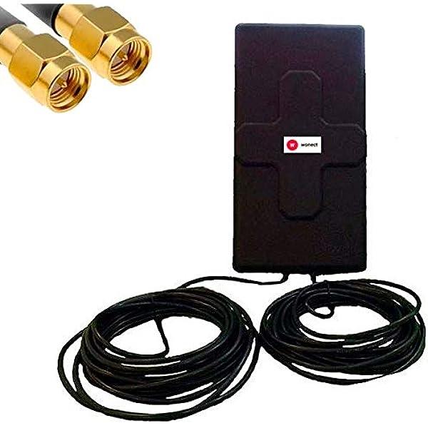 Antena 4G 50dbi LTE UMTS 3G exterior con cable SMA ...