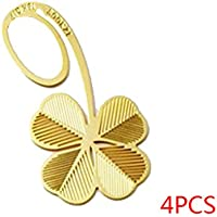 QHGstore 4 pezzi Nuovo Four Leaf Clover classica sposa laurea regalo segnalibro del metallo - Four Leaf Clover Regalo