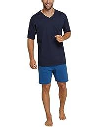 Schiesser Herren Zweiteiliger Schlafanzug Essentials Anzug Kurz