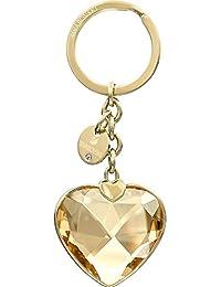 Swarovski Damen-Anhänger Schlüsselanhänger New Heart rhodiniert Kristall gold - 5127860
