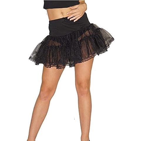 Maylynn 13708 - Enagua, crinolina, Tutú, falda de tul, aprox. Talla 38 40, negra