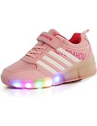 Luckly Grace Led Lumières Clignotant Couleur Changeant Chaussures à Roulettes sports Sneakers Avec rouleau Fille Garçon