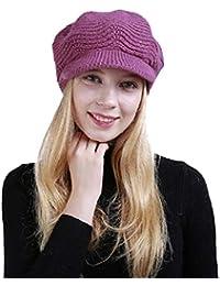 Yuson Girl Cappelli Invernali per Le Ragazze delle Donne Calde Calza  Cappello di Sci di Neve b8339db288c2