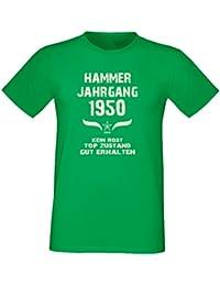 Fun T-Shirt Tolles Geschenk zum 67. Geburtstag Hammer Jahrgang 1950 Qualitativ Hochwertig Formschöm-angehnem zu tragen Farbe: hellgrün
