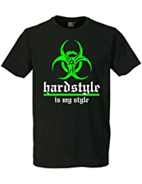 "Hardstyle is my style ""Destroy"" T-Shirt -original-Lila ""Schwarz"""