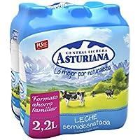 Central Lechera Asturiana Leche Semidesnatada - Paquete de 6 x 2200 ml - Total: 13200