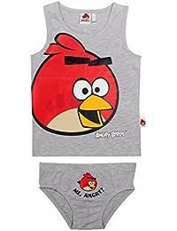 Angry Birds Enfants 2 Pièces Gilet et Court Pantalon Sous-vêtements Ensemble