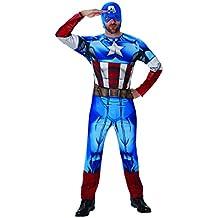 Rubie 's–Disfraz de oficial adulto de Marvel Capitán América Classic–Estándar
