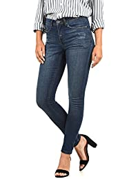 98bdd8647 BlendShe Adriana Jeans Denim Vaquero Tejano para Mujer Elástico Relaxed-Fit