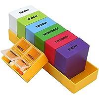 Shintop Tablettenbox Groß, Wochen Pillenbox Tablettenbox 7 Tage Farblich mit 4 Fächern pro Tag preisvergleich bei billige-tabletten.eu